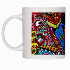 Art Color Dark Detail Monsters Psychedelic White Mugs by BangZart