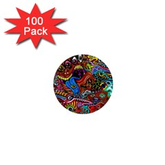 Art Color Dark Detail Monsters Psychedelic 1  Mini Buttons (100 Pack)  by BangZart