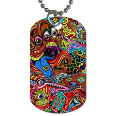 Art Color Dark Detail Monsters Psychedelic Dog Tag (one Side)