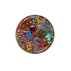 Art Color Dark Detail Monsters Psychedelic Hat Clip Ball Marker (10 Pack)
