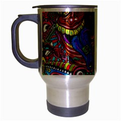 Art Color Dark Detail Monsters Psychedelic Travel Mug (silver Gray) by BangZart
