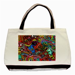 Art Color Dark Detail Monsters Psychedelic Basic Tote Bag by BangZart