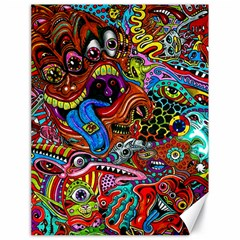 Art Color Dark Detail Monsters Psychedelic Canvas 18  X 24