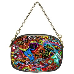 Art Color Dark Detail Monsters Psychedelic Chain Purses (one Side)