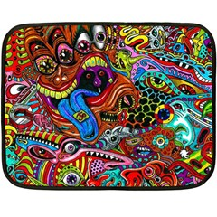 Art Color Dark Detail Monsters Psychedelic Double Sided Fleece Blanket (mini)  by BangZart