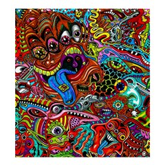 Art Color Dark Detail Monsters Psychedelic Shower Curtain 66  X 72  (large)