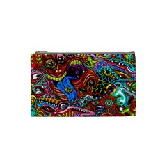 Art Color Dark Detail Monsters Psychedelic Cosmetic Bag (small)  by BangZart