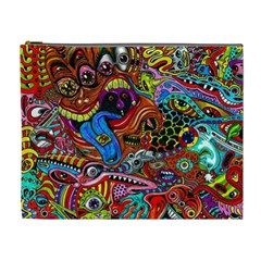 Art Color Dark Detail Monsters Psychedelic Cosmetic Bag (xl) by BangZart