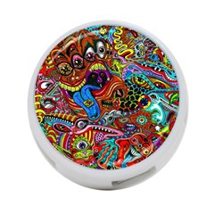 Art Color Dark Detail Monsters Psychedelic 4 Port Usb Hub (one Side)