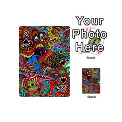 Art Color Dark Detail Monsters Psychedelic Playing Cards 54 (mini)  by BangZart