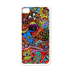 Art Color Dark Detail Monsters Psychedelic Apple Iphone 4 Case (white) by BangZart