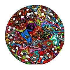 Art Color Dark Detail Monsters Psychedelic Round Filigree Ornament (two Sides)