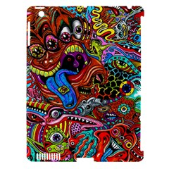 Art Color Dark Detail Monsters Psychedelic Apple Ipad 3/4 Hardshell Case (compatible With Smart Cover)