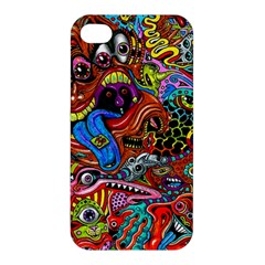 Art Color Dark Detail Monsters Psychedelic Apple Iphone 4/4s Premium Hardshell Case by BangZart