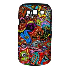 Art Color Dark Detail Monsters Psychedelic Samsung Galaxy S Iii Classic Hardshell Case (pc+silicone) by BangZart