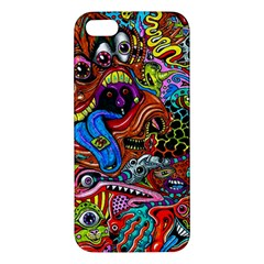 Art Color Dark Detail Monsters Psychedelic Apple Iphone 5 Premium Hardshell Case
