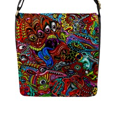 Art Color Dark Detail Monsters Psychedelic Flap Messenger Bag (l)  by BangZart