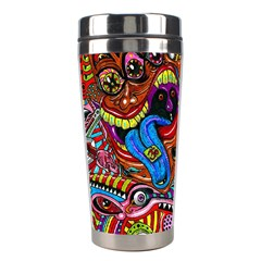 Art Color Dark Detail Monsters Psychedelic Stainless Steel Travel Tumblers by BangZart