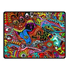Art Color Dark Detail Monsters Psychedelic Double Sided Fleece Blanket (small)  by BangZart