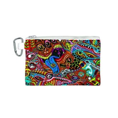 Art Color Dark Detail Monsters Psychedelic Canvas Cosmetic Bag (s) by BangZart