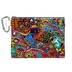 Art Color Dark Detail Monsters Psychedelic Canvas Cosmetic Bag (xl) by BangZart