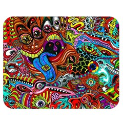 Art Color Dark Detail Monsters Psychedelic Double Sided Flano Blanket (medium)  by BangZart
