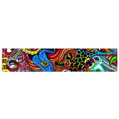 Art Color Dark Detail Monsters Psychedelic Flano Scarf (small) by BangZart