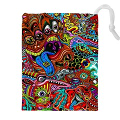 Art Color Dark Detail Monsters Psychedelic Drawstring Pouches (xxl) by BangZart