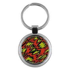 Distorted Shapes                           Key Chain (round) by LalyLauraFLM