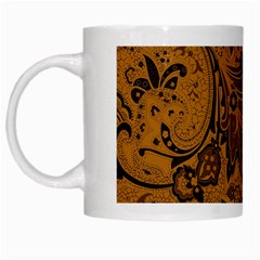 Art Traditional Batik Flower Pattern White Mugs by BangZart