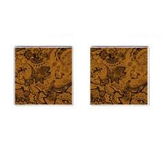 Art Traditional Batik Flower Pattern Cufflinks (square)