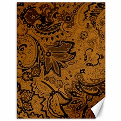 Art Traditional Batik Flower Pattern Canvas 36  X 48   by BangZart