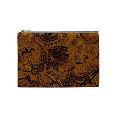 Art Traditional Batik Flower Pattern Cosmetic Bag (medium)