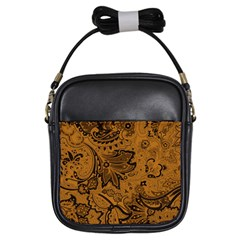 Art Traditional Batik Flower Pattern Girls Sling Bags by BangZart