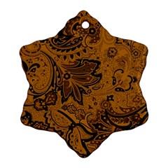 Art Traditional Batik Flower Pattern Ornament (snowflake)