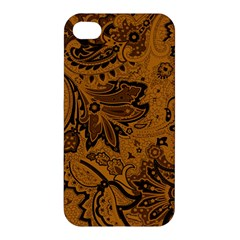 Art Traditional Batik Flower Pattern Apple Iphone 4/4s Hardshell Case by BangZart