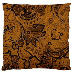 Art Traditional Batik Flower Pattern Large Cushion Case (two Sides) by BangZart