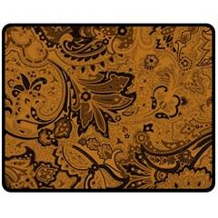 Art Traditional Batik Flower Pattern Double Sided Fleece Blanket (medium)  by BangZart