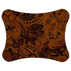 Art Traditional Batik Flower Pattern Jigsaw Puzzle Photo Stand (bow)