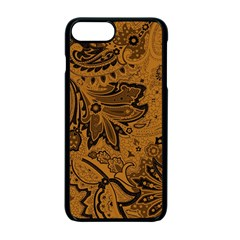Art Traditional Batik Flower Pattern Apple Iphone 7 Plus Seamless Case (black)
