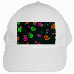 Abstract Bug Insect Pattern White Cap by BangZart