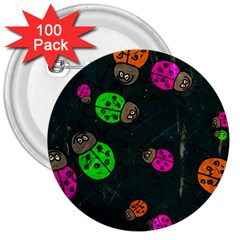 Abstract Bug Insect Pattern 3  Buttons (100 Pack)  by BangZart