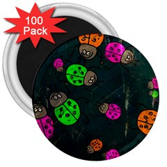 Abstract Bug Insect Pattern 3  Magnets (100 Pack)