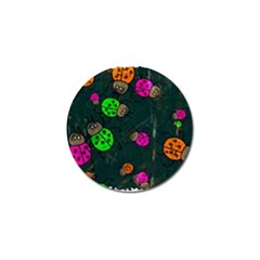 Abstract Bug Insect Pattern Golf Ball Marker by BangZart
