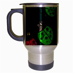 Abstract Bug Insect Pattern Travel Mug (silver Gray) by BangZart