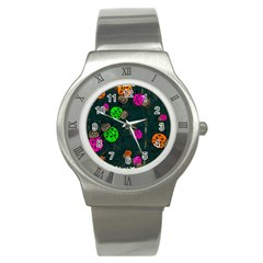 Abstract Bug Insect Pattern Stainless Steel Watch by BangZart