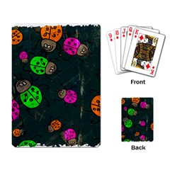 Abstract Bug Insect Pattern Playing Card
