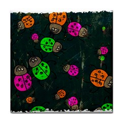 Abstract Bug Insect Pattern Face Towel