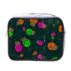 Abstract Bug Insect Pattern Mini Toiletries Bags by BangZart