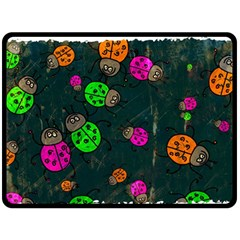 Abstract Bug Insect Pattern Fleece Blanket (large)
